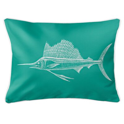 Weatherhill Sailfish Lumbar Pillow Color: Aqua