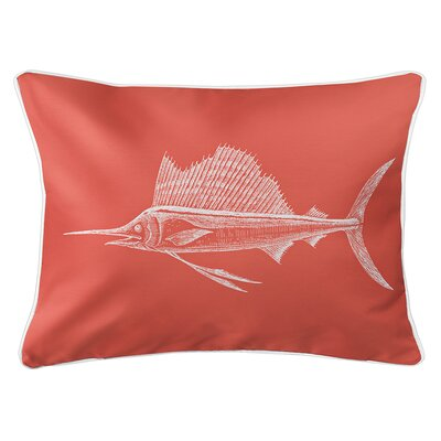 Weatherhill Sailfish Lumbar Pillow Color: Coral
