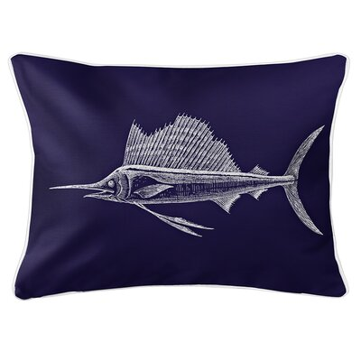 Weatherhill Sailfish Lumbar Pillow Color: Navy
