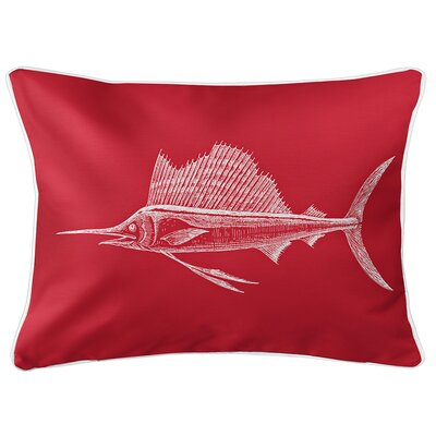 Weatherhill Sailfish Lumbar Pillow Color: Red