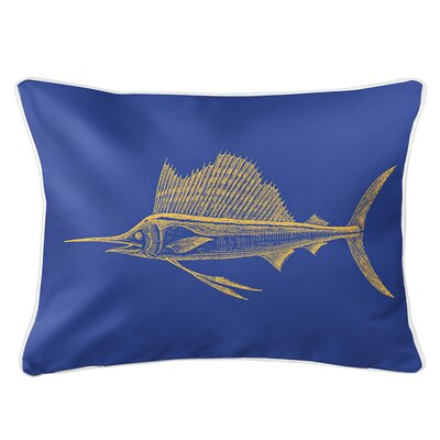 Weatherhill Sailfish Lumbar Pillow Color: Yellow/Blue