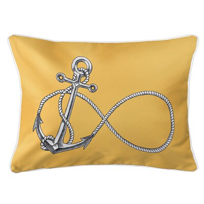 Berwick Infinity Anchor Lumbar Pillow Color: Yellow