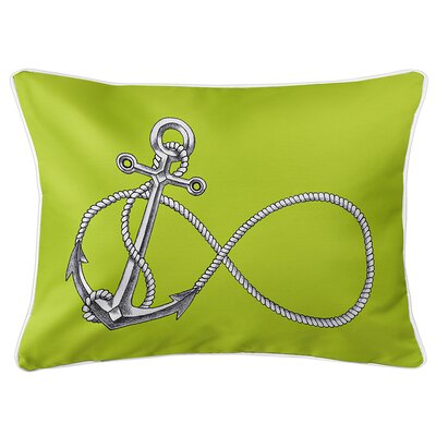 Berwick Infinity Anchor Lumbar Pillow Color: Lime