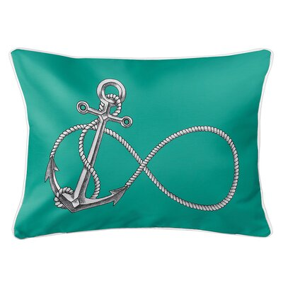 Berwick Infinity Anchor Lumbar Pillow Color: Aqua
