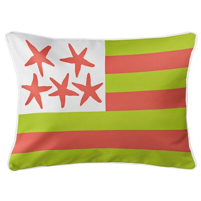 Eldridge Flag Lumbar Pillow Color: Key Lime
