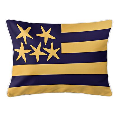 Eldridge Flag Lumbar Pillow Color: Sunshine