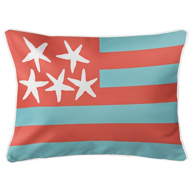 Eldridge Flag Lumbar Pillow Color: Seaside