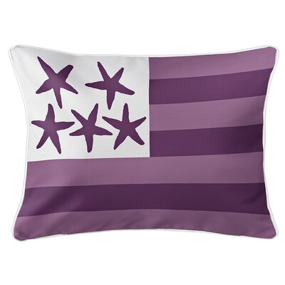 Eldridge Flag Lumbar Pillow Color: Sea Urchin