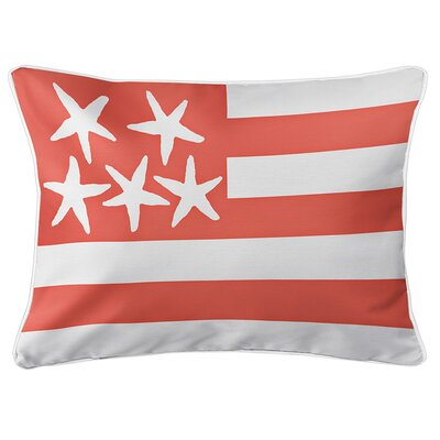 Eldridge Flag Lumbar Pillow Color: Duval