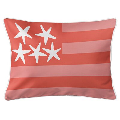 Eldridge Flag Lumbar Pillow Color: Spoonbill