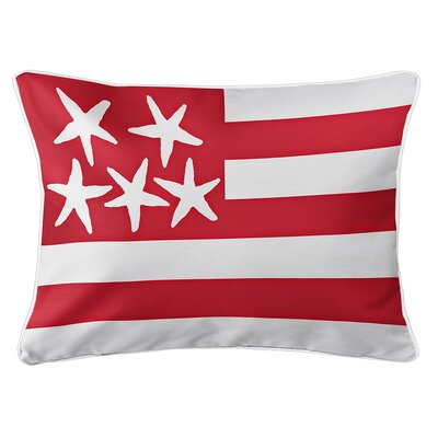 Eldridge Flag Lumbar Pillow Color: Admiral