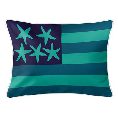 Eldridge Flag Lumbar Pillow Color: Pacific
