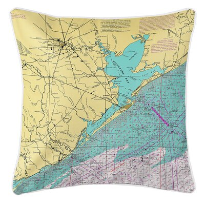 Ruger Houston, Galveston Bay, TX Throw Pillow