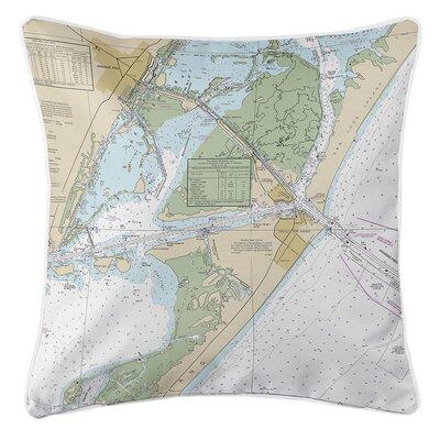 Ruger Port Aransas, TX Throw Pillow