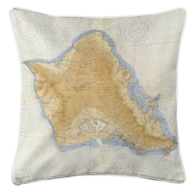 Ruger Oahu, HI, C. 1959 Vintage Throw Pillow