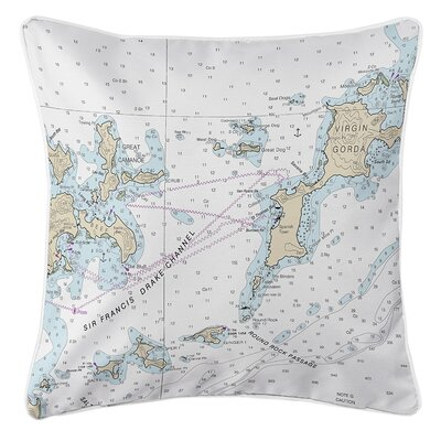 Ellisburg Virgin Gorda, BVI Throw Pillow