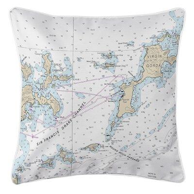 Ellisburg Virgin Gorda, BVI Throw Pillow