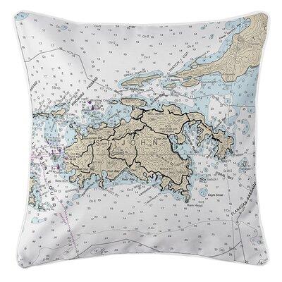 Ellisburg St. John, USVI Throw Pillow