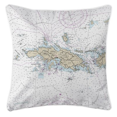 Ellisburg St. Thomas, USVI Throw Pillow