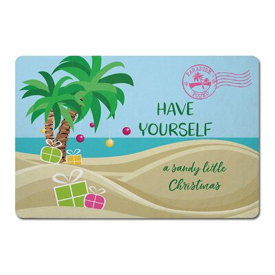 Have Yourself A Sandy Little Christmas Floor Kitchen Mat
