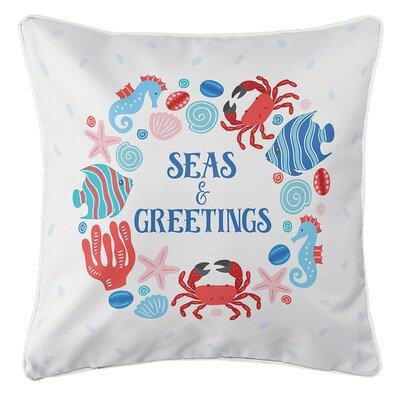 Bellevue Ocean Drifters Christmas Throw Pillow