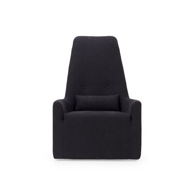 Merced High Back Swivel Armchair Body Fabric: Orchard Blackberry