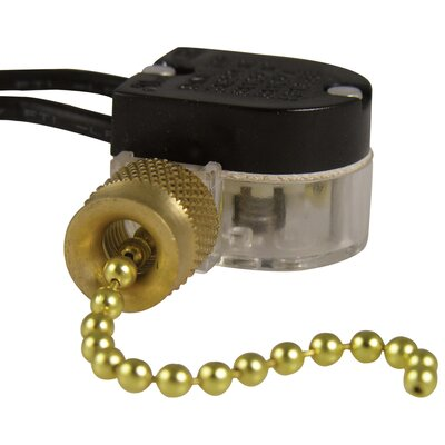 Plated Pull Chain Switch Finish: Brass Plated
