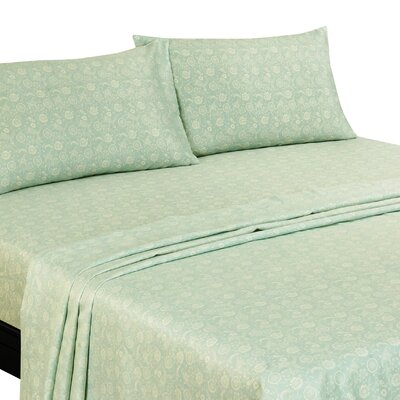 Murdock 400 Thread Count Sheet Set Size: Queen, Color: Blue