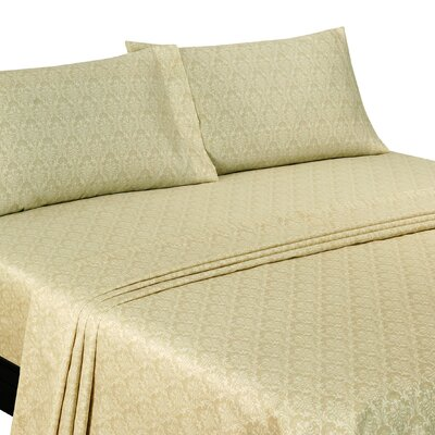 Murdock Damask 400 Thread Count Sheet Set Size: Queen