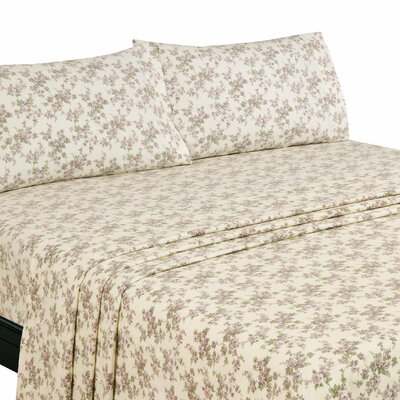 Willshire Hill 100% Cotton Flannel Sheet Set Size: Queen