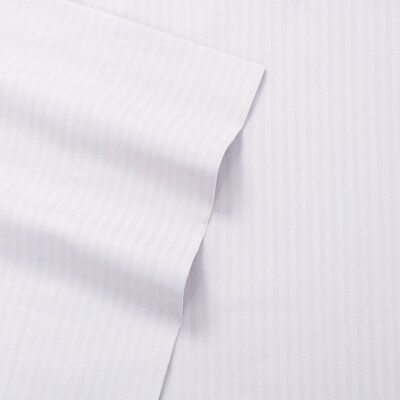 Greenwich Candy Stripe 300 Thread Count Satin Sheet Set Size: Full, Color: White