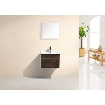 Brockman 24 Single Bathroom Vanity Set Base Finish: Rose Wood