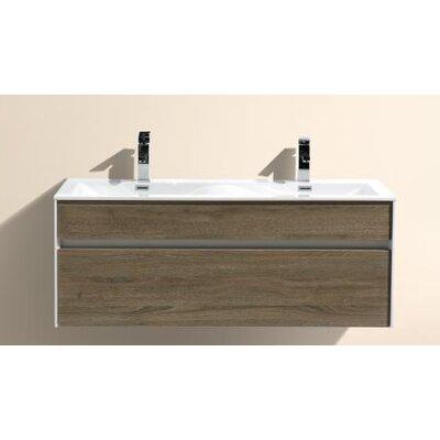 Brockman 47 Double Bathroom Vanity Set Base Finish: Havana Oak