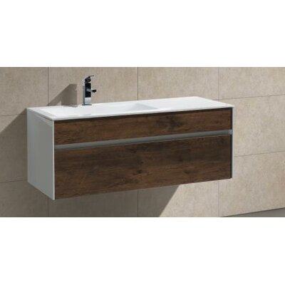 Brockman 48 Single Modern Bathroom Vanity Set Base Finish: Rose Wood