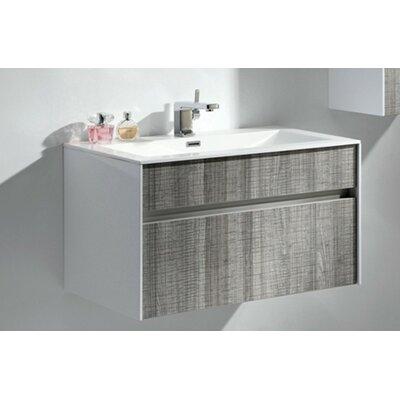 Brockman 24 Single Bathroom Vanity Set Base Finish: Ash Gray