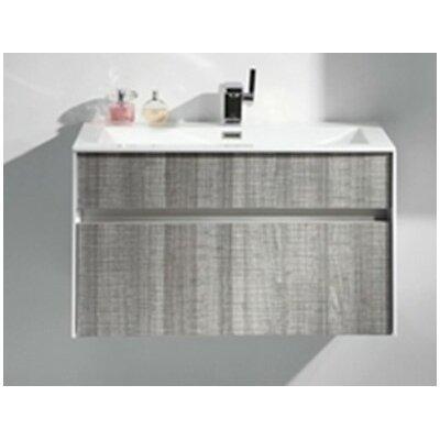 Fitto 24 Single Modern Bathroom Vanity Set Base Finish: White Gloss