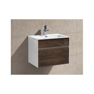 Fitto 24 Single Modern Bathroom Vanity Set Base Finish: Rose Wood