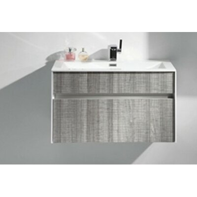 Fitto 32 Single Modern Bathroom Vanity Set Base Finish: White Gloss