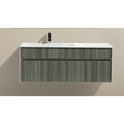 Brockman 48 Single Modern Bathroom Vanity Set Base Finish: Ash Gray