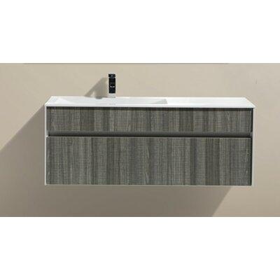 Fitto 48 Single Modern Bathroom Vanity Set Base Finish: White Gloss