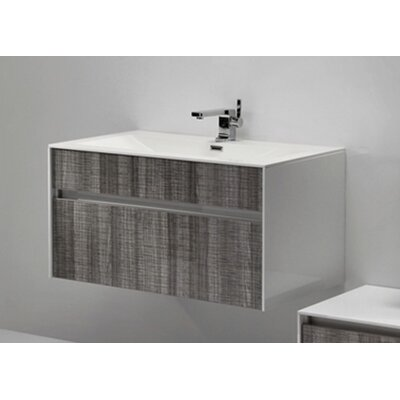 Brockman 36 Single Bathroom Vanity Set Base Finish: Ash Gray