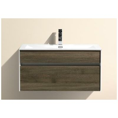 Brockman 36 Single Bathroom Vanity Set Base Finish: Havana Oak
