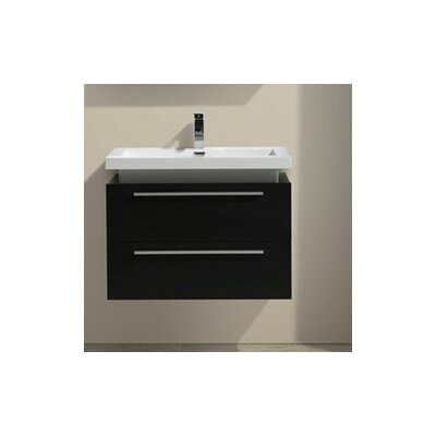 Tona 32 Modern Wall Mounted Vanity Base Finish: Black Wood