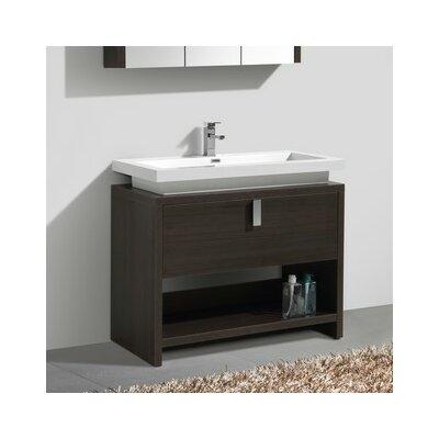 Haycraft 40 Single Bathroom Vanity Set Base Finish: Gray Oak