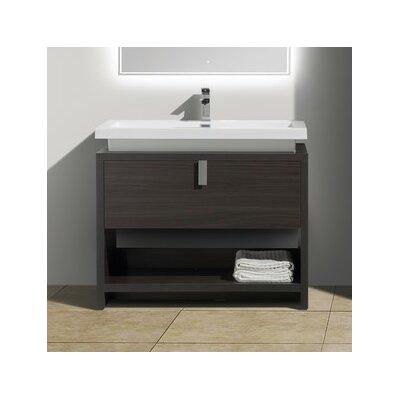 Haycraft 40 Single Bathroom Vanity Set Base Finish: Dark Gray Oak