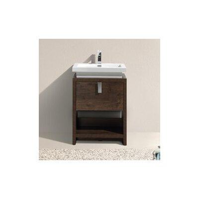 Levi 23.5 Single Modern Bathroom Vanity Set Base Finish: Rose Wood
