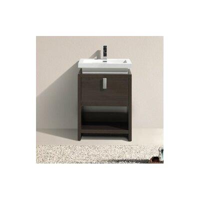 Haycraft 23.5 Single Modern Bathroom Vanity Set Base Finish: Gray Oak