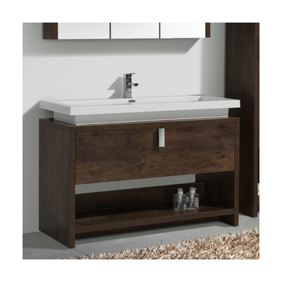 Haycraft 47.25 Single Modern Bathroom Vanity Set Base Finish: Rose Wood
