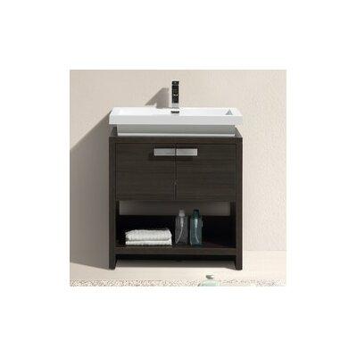 Levi 29.5 Single Modern Bathroom Vanity Set Base Finish: Gray Oak