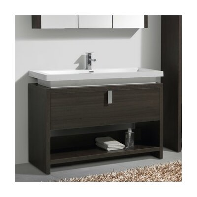 Haycraft 47.25 Single Modern Bathroom Vanity Set Base Finish: Gray Oak